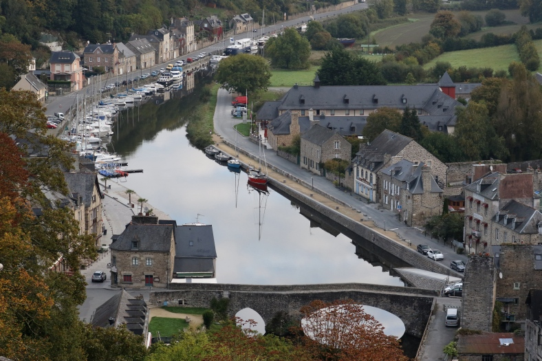 Dinan; the intial settlement was along the river valley